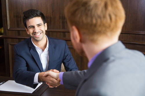 selling a business - two men negotiating
